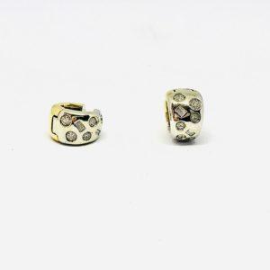 orecchini in oro giallo con pietre gioielli torino