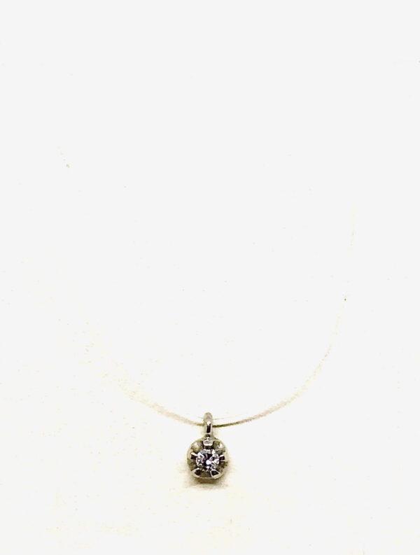 collana in oro giallo 18 carati con ciondolo diamante gioielli torino offerte d'oro