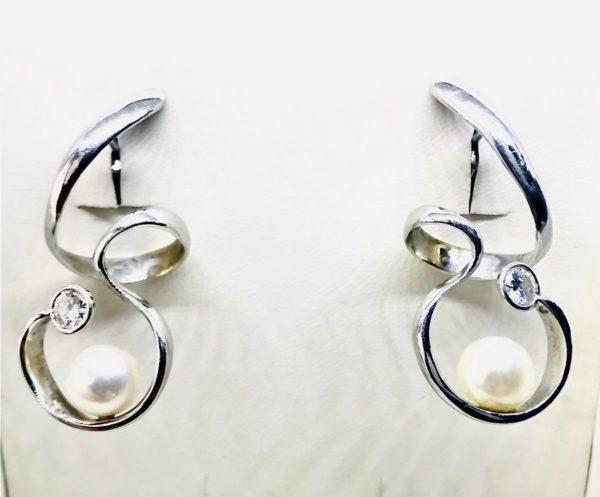 orecchini con perle e pietre preziose gioielli torino