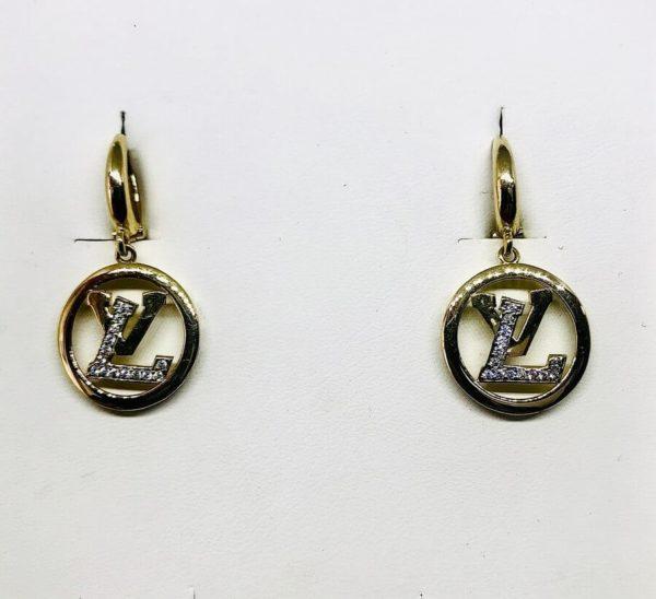 orecchini circolari con lettere interne gioielli torino