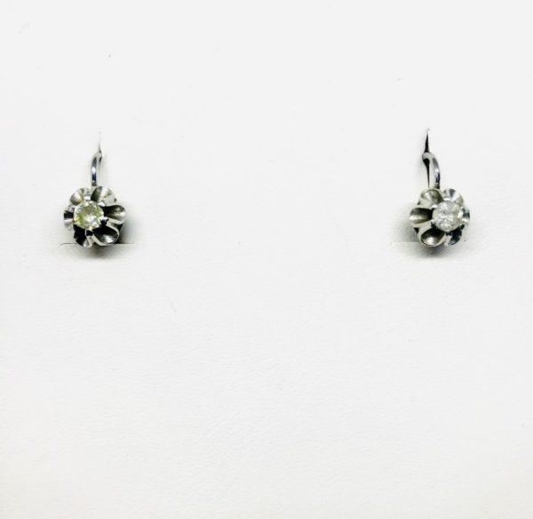orecchini a forma di fiore con pietra gioielli torino