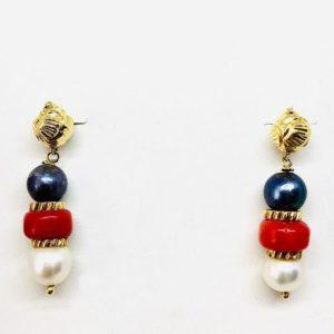 orecchini in oro con perla e pendenti gioielli torino