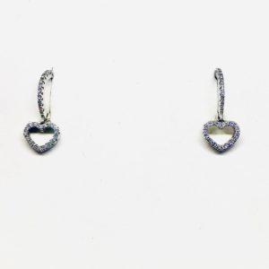 orecchini a forma di cuore gioielli torino