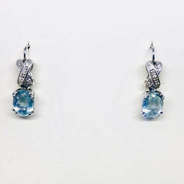 orecchini con pietra blu pendente gioielli torino