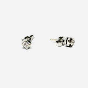 orecchini oro bianco con diamanti gioielli torino
