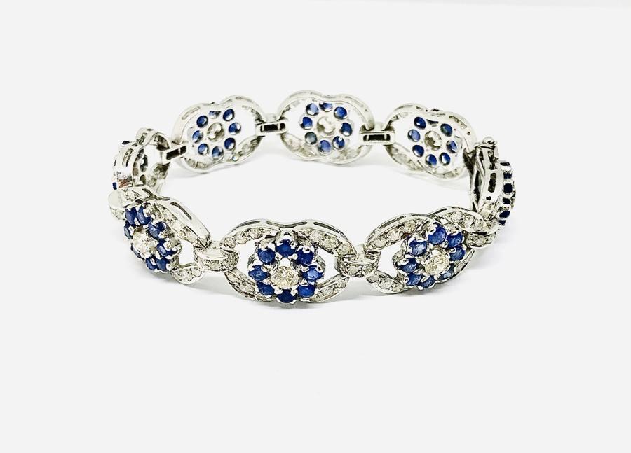 Bracciale diamanti e zaffiri