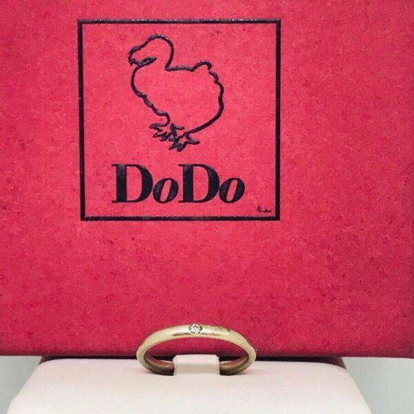 Anello Dodo Mariani in oro giallo 18 carati con diamante gioielli torino offerte d'oro