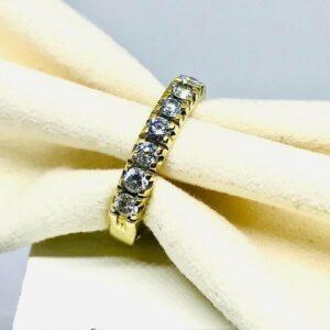 Anello in oro giallo 18 carati con 6 diamanti- Offerte d'oro gioielli torino