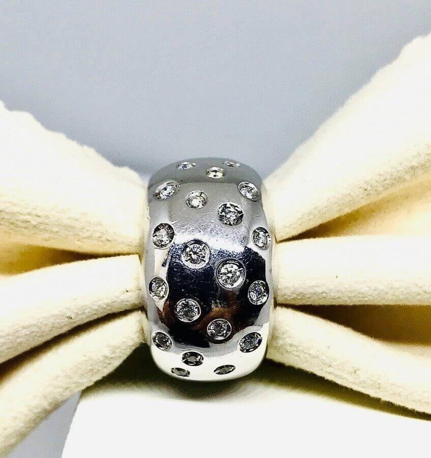 Anello con diamanti ct 0,25