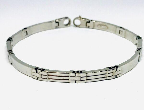 Bracciale in oro bianco 18 carati grammi 12. Offerte d'oro gioielli torino