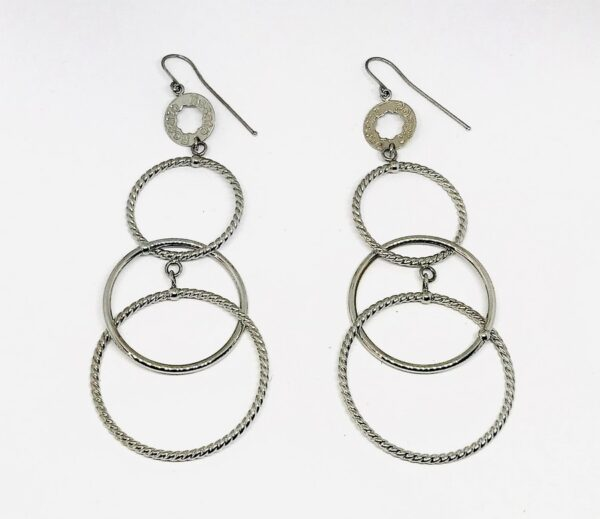 orecchini pendenti in oro bianco a 18 carati grammi 7,70. offerte d'oro gioielli torino