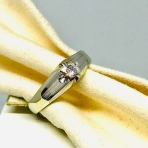 annello in oro giallo con diamante offerte d'oro gioielli torino