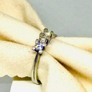 anello in oro giallo con diamanti gioielli torino offerte d'oro