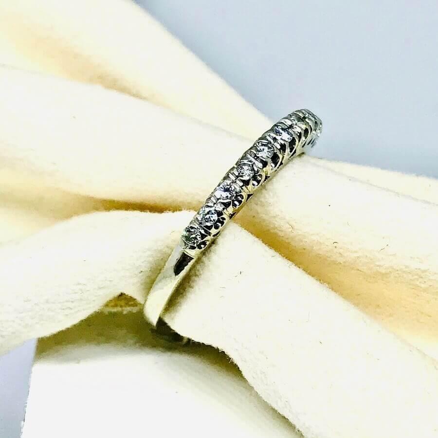 Anello con diamanti ct 0,11