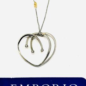 collana Re Carlo oro bianco 18 carati e diamanti. offerte d'oro gioielli torino