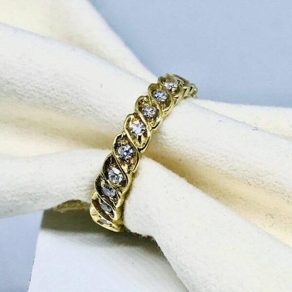 anello in oro giallo 18 carati con diamanti. Offerte d'oro Gioielli Torino