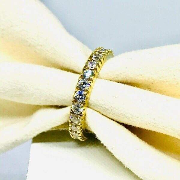 anello in oro giallo 18 carati con diamanti offerte d'oro gioielli torino
