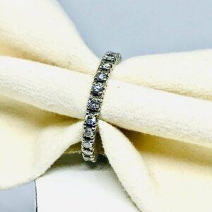 anello in oro bianco 18 carati con diamanti offerte d'oro gioielli torino