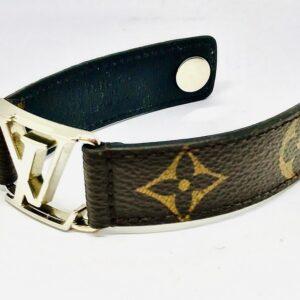 Bracciale Louis Vuitton in pelle con logo LV originale. Offerte d'oro gioielli torino