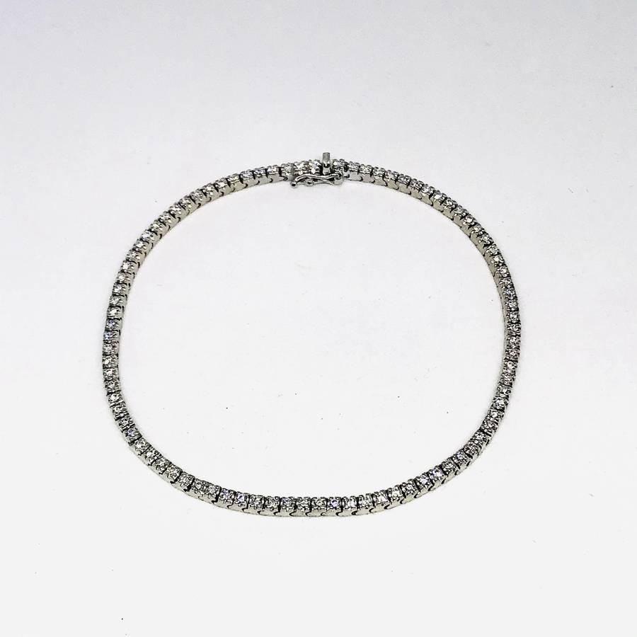 Bracciale oro bianco 18 carati con diamanti