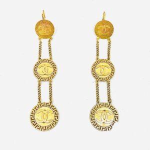 orecchini pendenti in oro giallo gioielli torino offerte d'oro