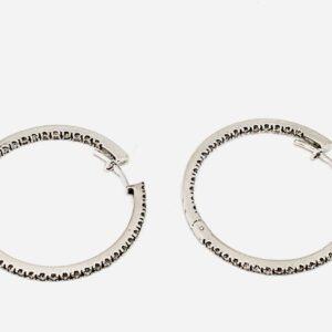 orecchini a cerchio con diamanti gioielli torino offerte d'oro