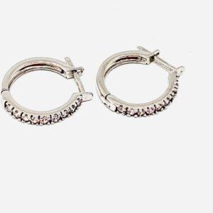 orecchini a cerchio con zirconi gioielli torino offerte d'oro