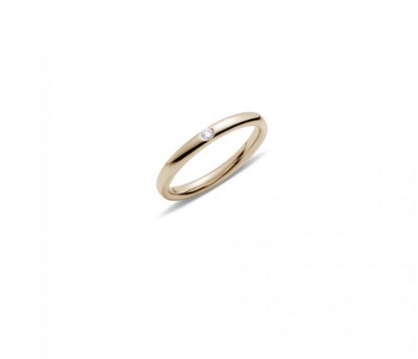 fedina in oro verde con diamante gioielli torino offerte d'oro