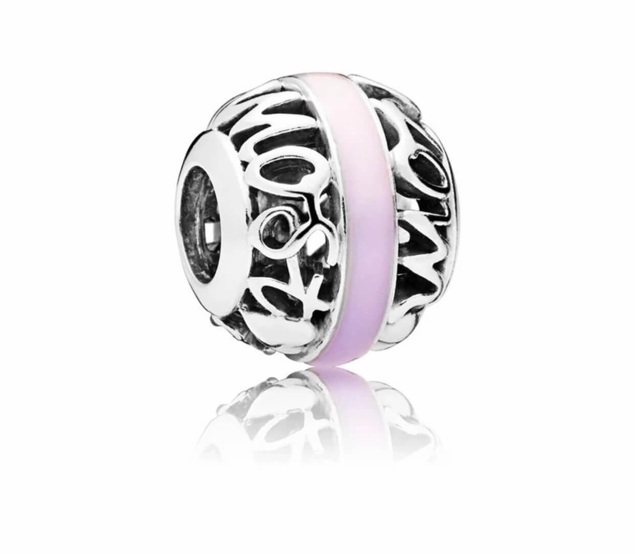 Charm Pandora con fascia rosa