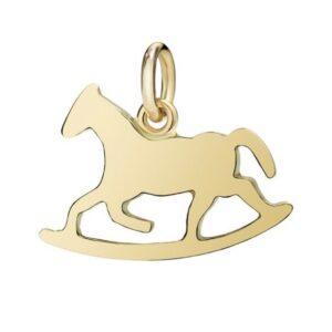 ciondolo in oro a forma di cavallo a dondolo gioelli torino offerte d'oro