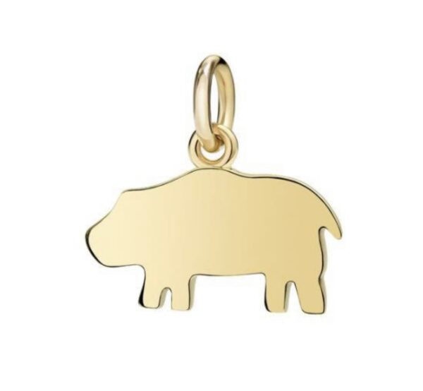 ciondolo in oro a forma di maialino gioielli torino offerte d'oro