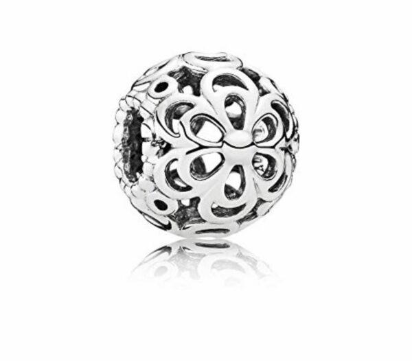 Charm Pandora in argento 925 a forma di pallina fiore melo. gioielli torino offerte d'oro