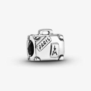 Charm Pandora in argento a forma di valigia. gioielli torino offerte d'oro