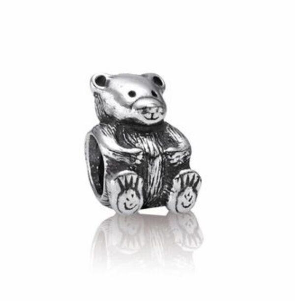 Charm a forma di orsetto in argento. gioielli torino offerte d'oro