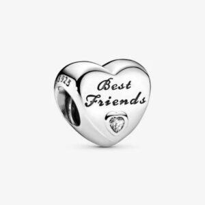 charm in argento a forma di cuore con iscrizione gioielli torino offerte d'oro